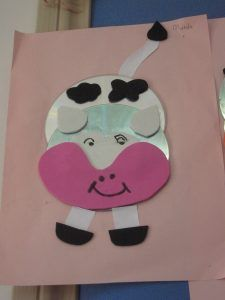 cd cow craft idea for kids