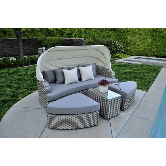 Brayden Studio Schuler Daybed 4 Piece Sofa Seating Group With