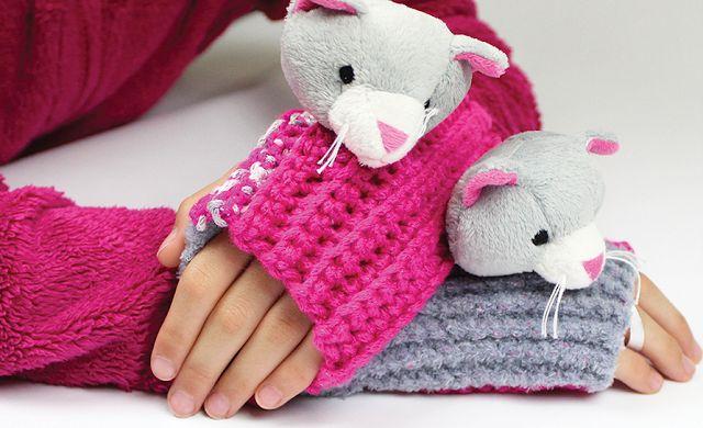 El blog de Dmc: Mitones de ganchillo para niños con Top This
