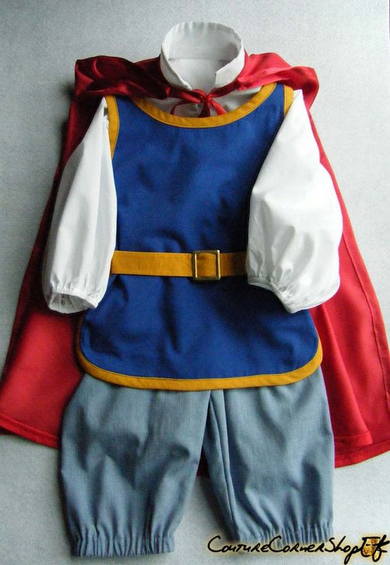 Snow White's Prince Charming Sz 2 to 6 yrs by couturecornershop