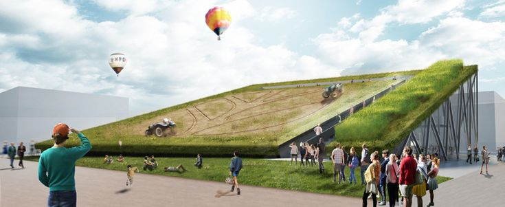 earth screening new holland agriculture pavilion by recchi engineering &carlo ratti associati for for the expo milan 2015