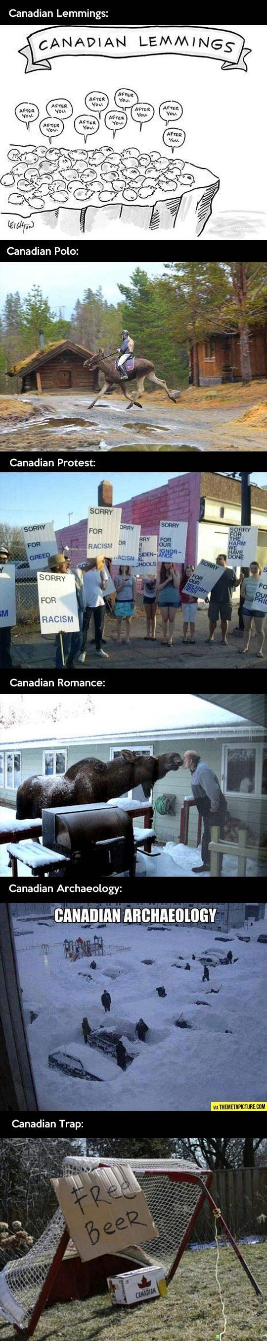 It's different in Canada!
