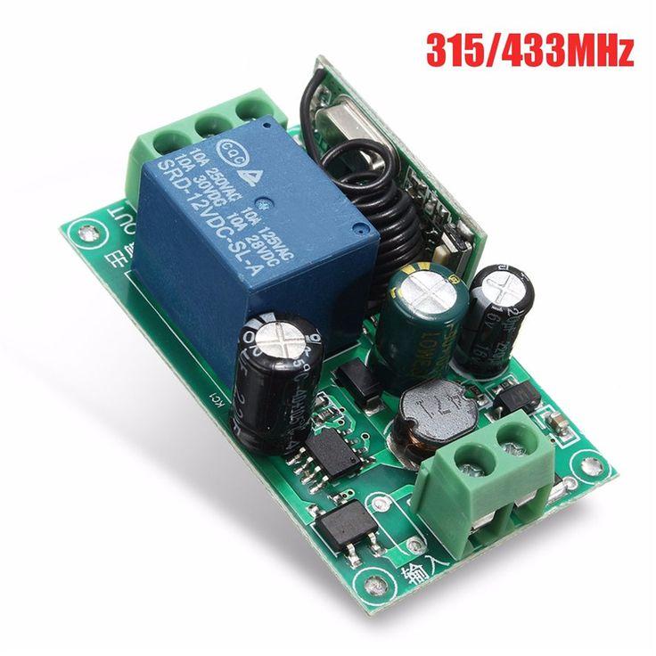 220 V Relé de 1 Canal Inalámbrico RF Interruptor de Control Remoto Receptor Superheterodino 315/433 MHZ