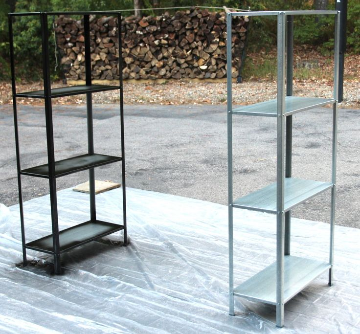 Rustic Industrial Ikea Hack Bookcase