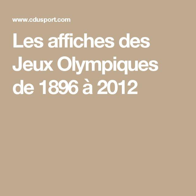 Les affiches des Jeux Olympiques de 1896 à 2012