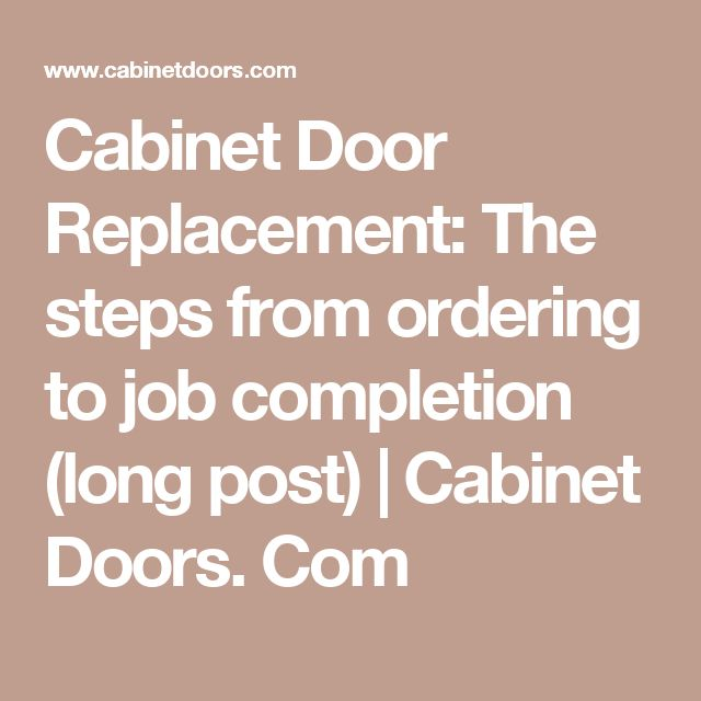 Cabinet Door Replacement: The steps from ordering to job completion (long post) | Cabinet Doors. Com