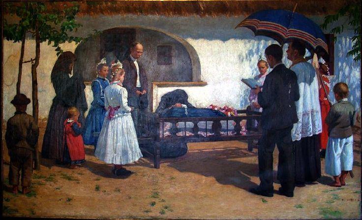 Child's funeral, Somogytúr | Kunffy Lajos | Rippl - Rónai Megyei Hatókörű Városi Múzeum - Kaposvár | CC BY