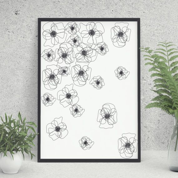 One Line Art Minimal Art Printable Art Digital by KYLprintable