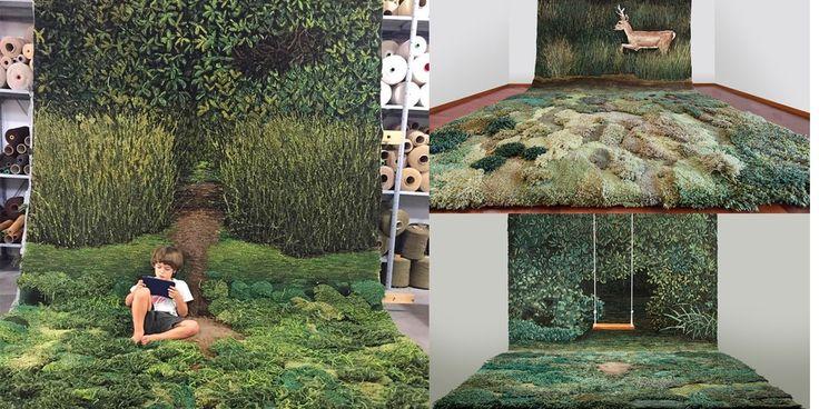 Esta super alfombra convierte tu dormitorio en un prado al aire libre