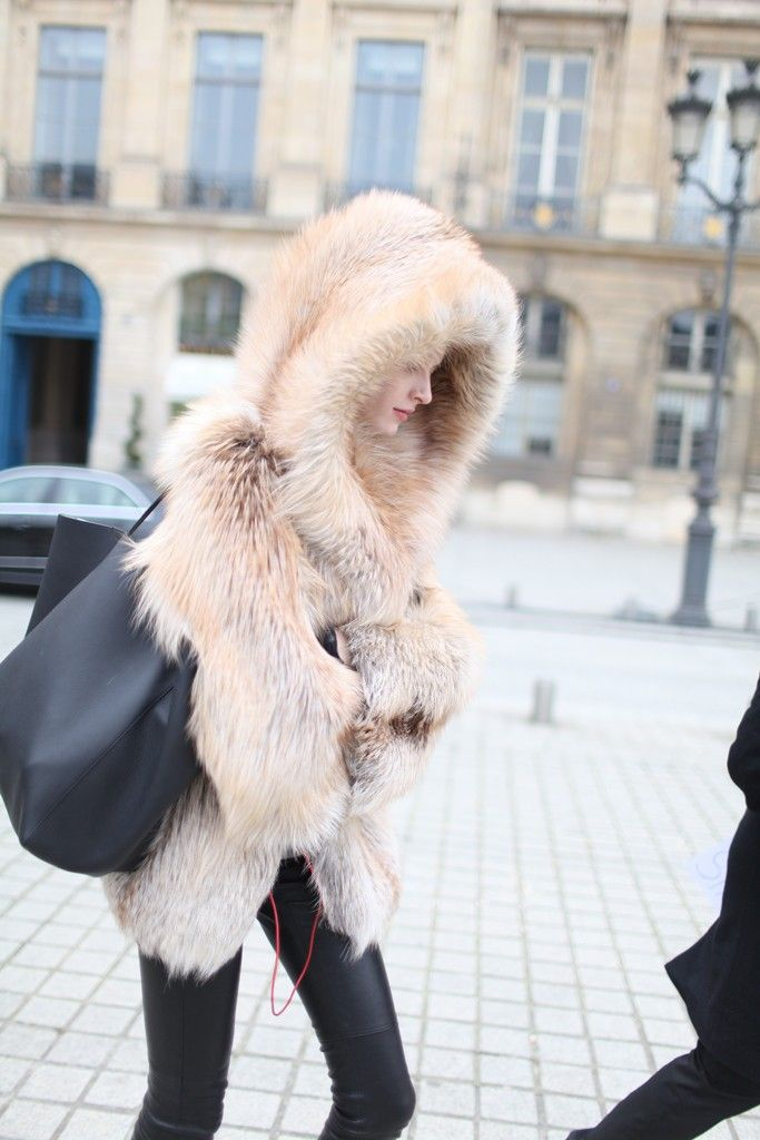 Paris Fashion Week street style. [Photo by Kuba Dabrowski]