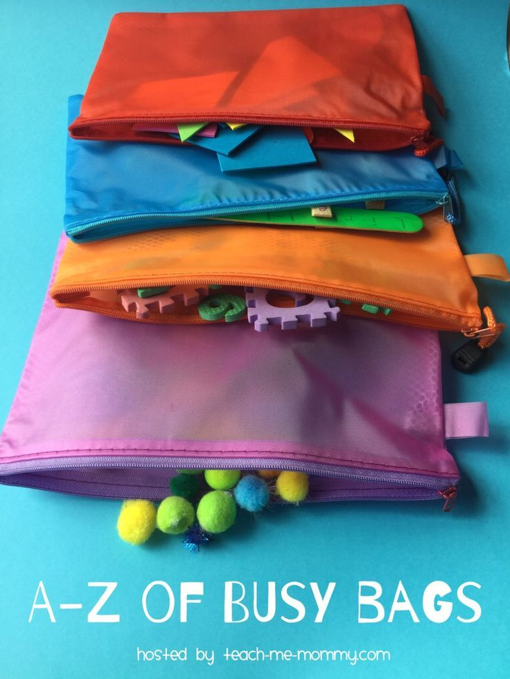 The A-Z of Busy Bags Busy bags are great for keeping little ones occupied! Find 26 ideas shared during this series!