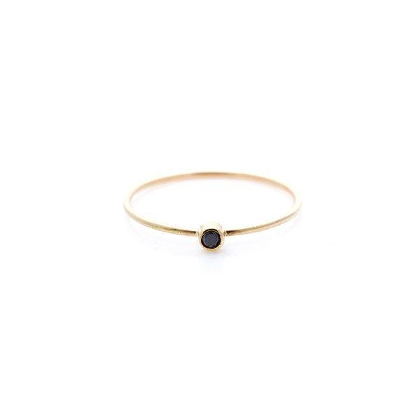 Sarah & Sebastian Tiny Black Diamond Ring