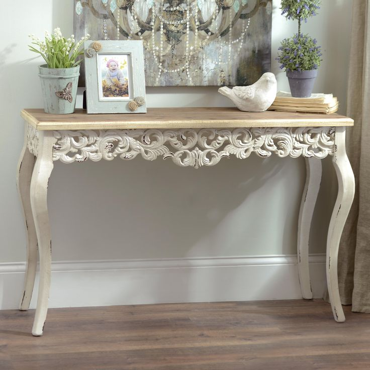 charm your guests with our ivory baroque console table itu0027s an antique look perfect for