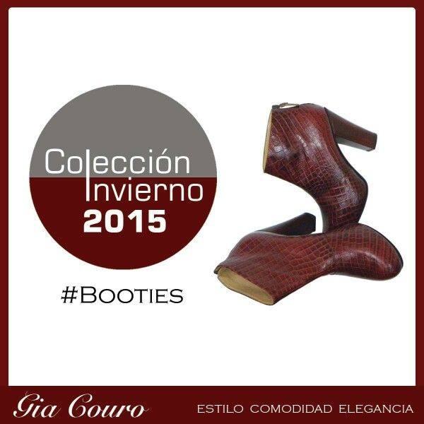 Booties Gia Couro