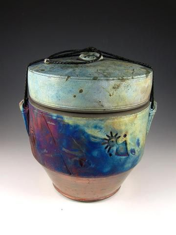 Ancients Art Raku Style Companion Cremation Urn for Ashes