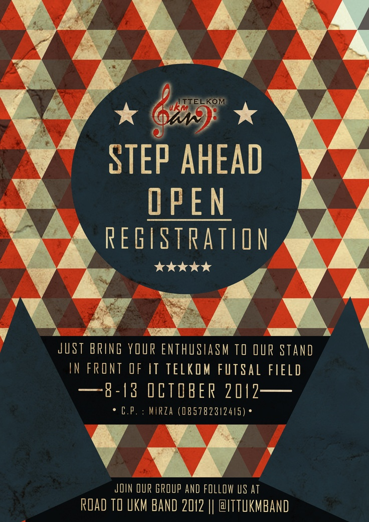 UKM BAND Step Ahead Coming Soon Poster