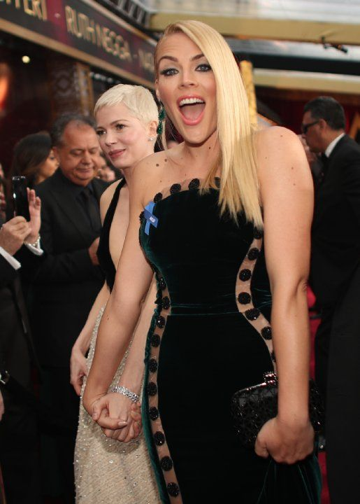 Busy Philipps and Michelle Williams at an event for The Oscars (2017)