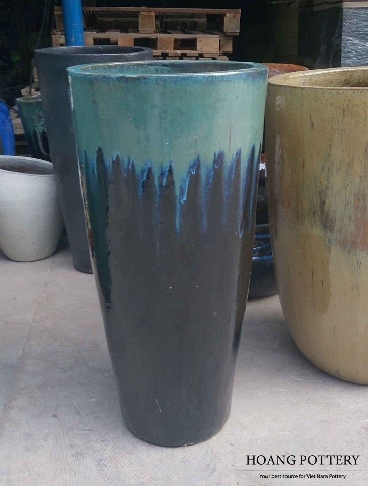Pin On Glazed Ceramic Planters Pots And Statues