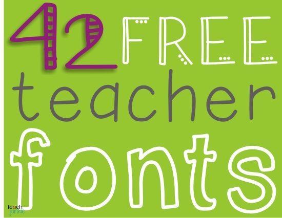 Free fonts for teachers
