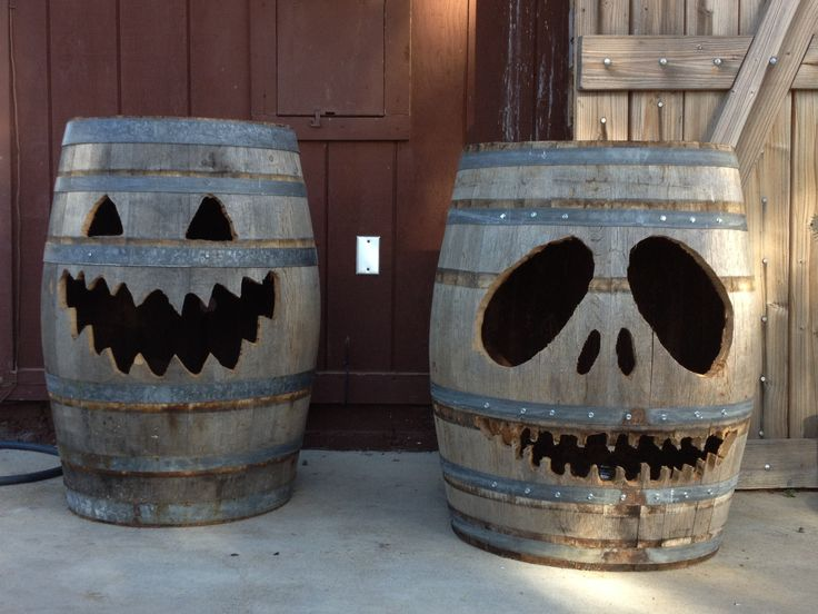 Happy Halloween with Barro-lanterns (aka Jack-O-Barrels) at Big White House Winery in Livermore, CA