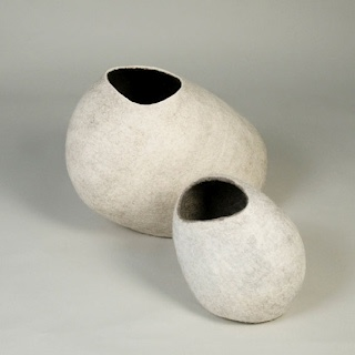 Gillian Royal's felted vessels