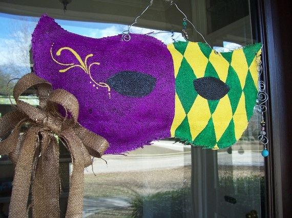 Mardi gras door sign