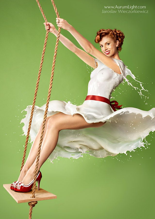 Em ensaio fotográfico bastante original, modelos Pin-ups vestem apenas leite - Comunicadores.info