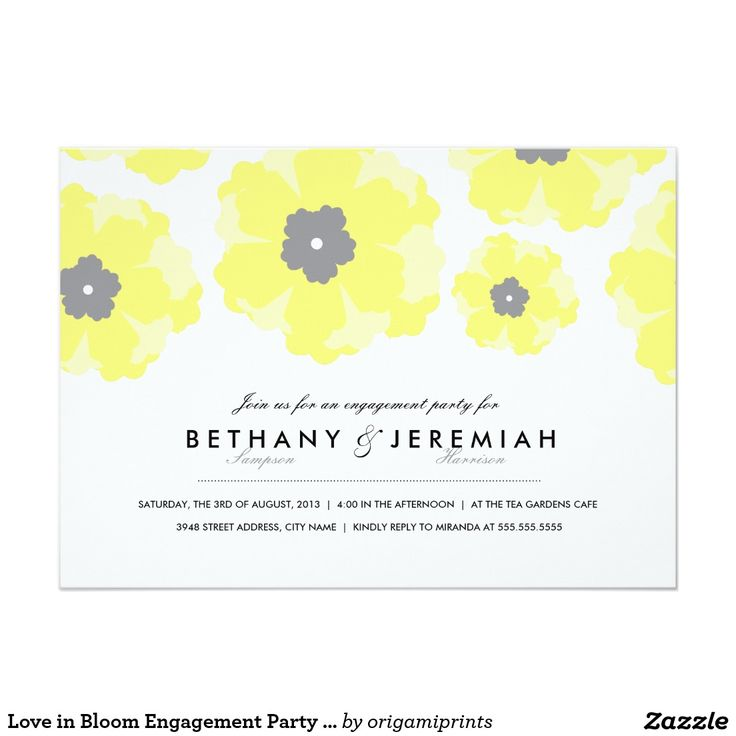 617 best Engagement Party Invitations images – Reply to Party Invitation