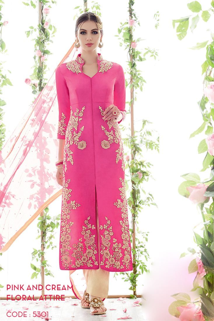 Gracious Pink Color Embroidered Salwar Kameez -$77