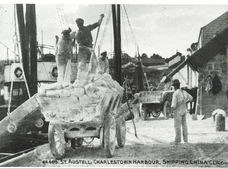 Loading china clay at Charlestown. Late 19th century?