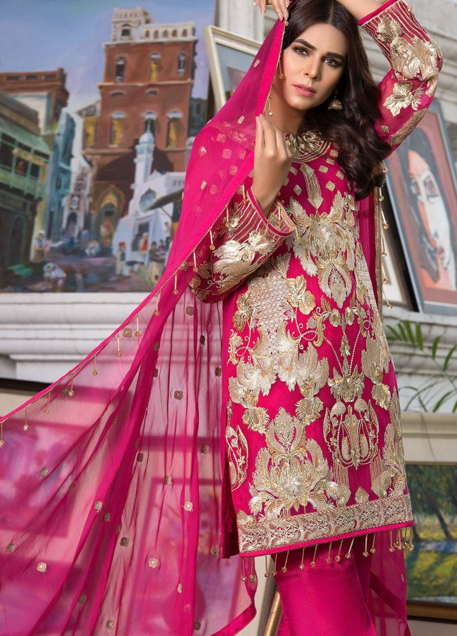 12fbf83cde Designer Chiffon Suits Collection 2019 - Pakistani Chiffon Suits Unstitched  Embroidered | Sanaulla Online