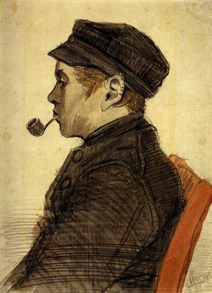 Young Man with a Pipe 1884 Vincent van Gogh