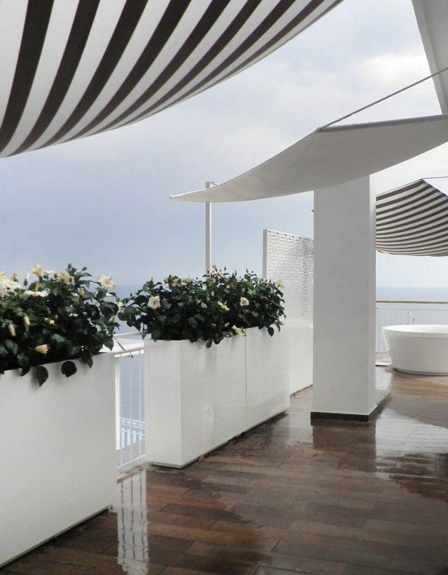 17 migliori idee su fioriere da terrazza su pinterest for Piani di casa con giardino interno