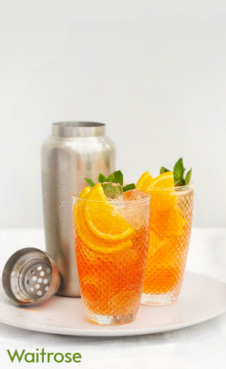This Aperol G&T summer cocktail is a delicious twist on a classic G&T. It's bursting with mint and orange flavours and sure to be a new favourite. See below for the recipe.  Mix 50ml Aperol and 25ml gin in a cocktail shaker with ice. Pour into a long glass and top with tonic water. Finish with a sprig of mint and orange slices.   For more cocktail recipes, see the Waitrose website.