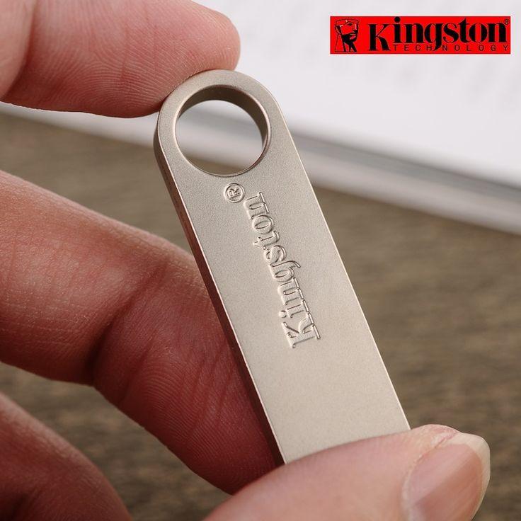 Kingston Usb Flash Drive 8gb 16gb 32gb 64gb pendrive Memory Stick USB 2.0 Flash memoria Stick cle usb Metal customized pen drive //Price: $11.36//     #onlineshop