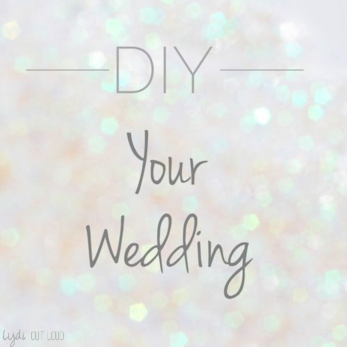 Awesome money saving tips and ways to have an elegant wedding with DIY's!