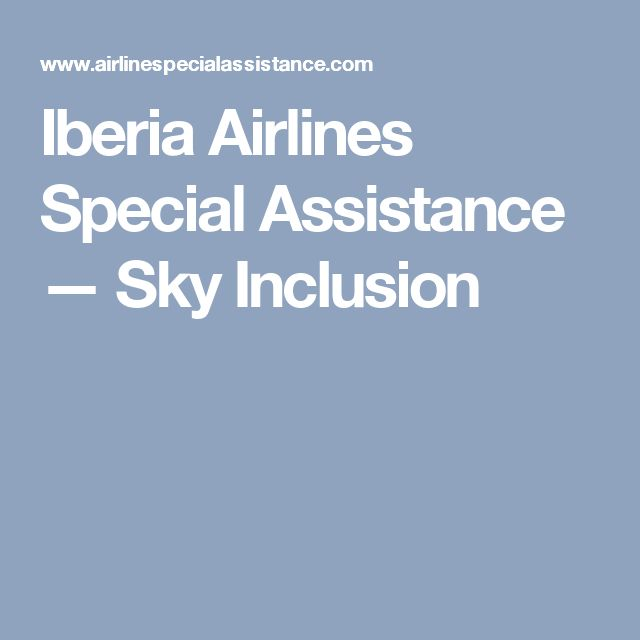 Iberia Airlines Special Assistance — Sky Inclusion