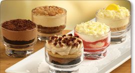 """Just tried one of these little Dolcini desserts  (strawberry white chocolate) at Olive Garden, and they're so good and such a small portion that I didn't feel """"guilty"""" for getting dessert after such a heavy meal!"""