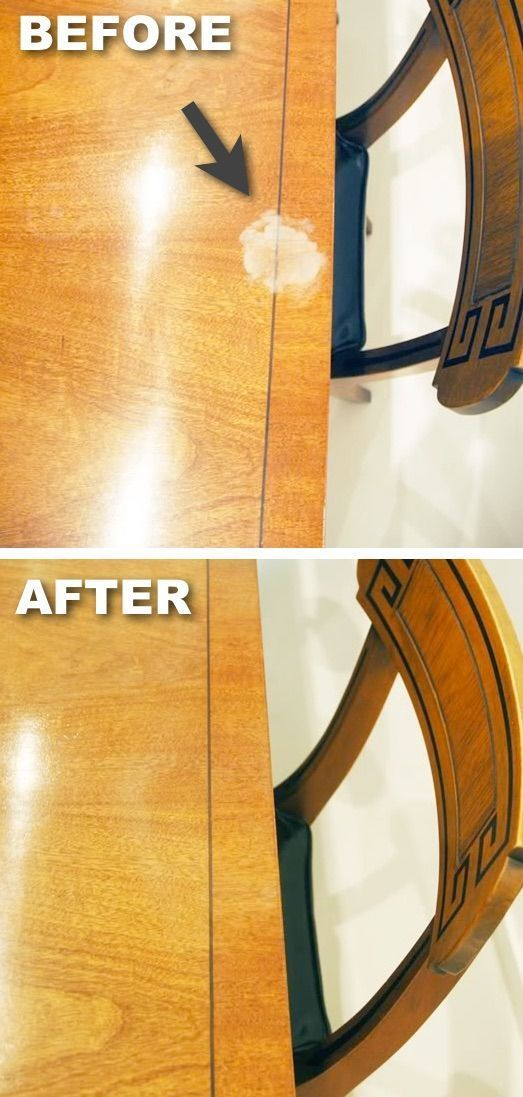 How to get rid of white marks on furniture -- DIY household cleaning tips, tricks and hacks for your home bathrooms, kitchens, bedrooms, floors, furniture and more! Perfect for a lazy girl like me. Listotic.com