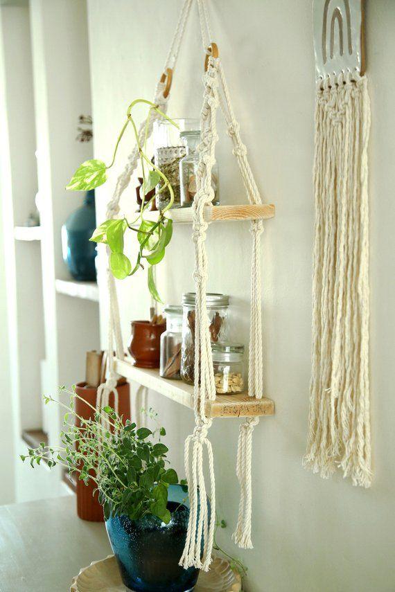 Macrame shelf, Macrame Wall Hanging Shelf , Shelf, Modern Macrame, Boho Hanging Shelf, hanging shelf, Boho decor, boho home