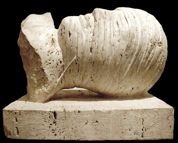 Artist: Igor Mitoraj (Polish, 1944–2014) Title: Hypnos, 2004 Medium: Sculptures, marble