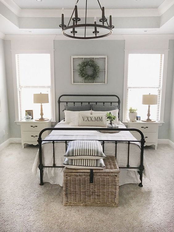 Paint color is Sherwin Williams SW 7057 Silver Strand.