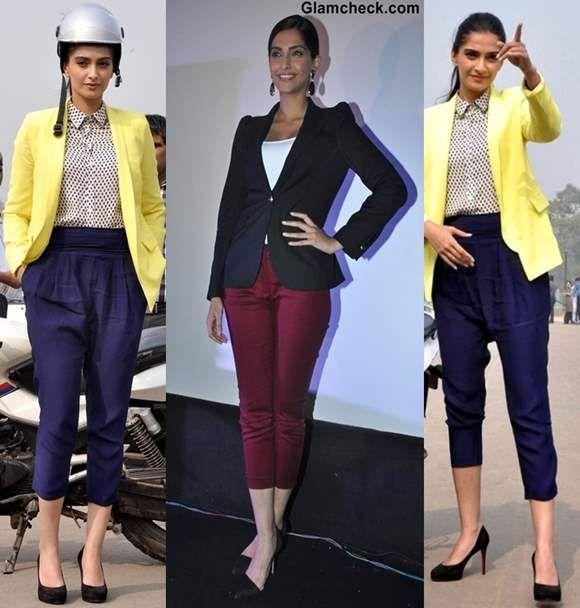 Sonam Kapoor Style Inspiration - Wearing Blazer Cropped Pants