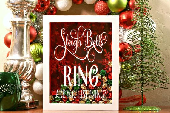 Christmas Shadow Box, Sleigh Bells Ring, Christmas Shadow Box