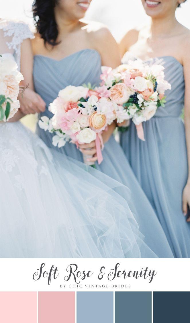 Rose & Serenity Wedding Colour Palette