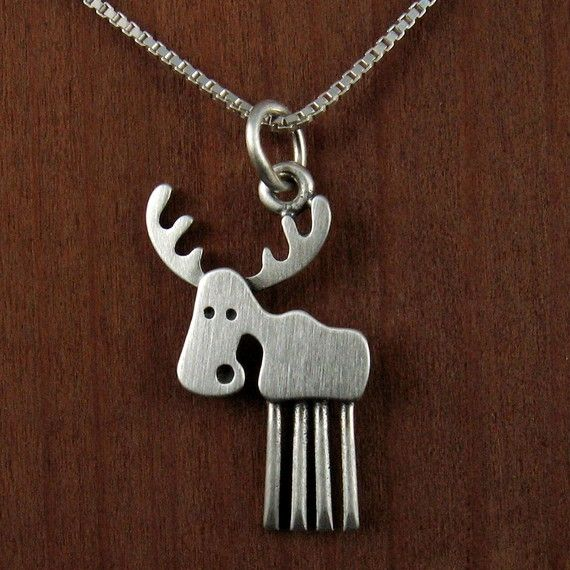Moose necklace - I love this!! Could match my moose earrings
