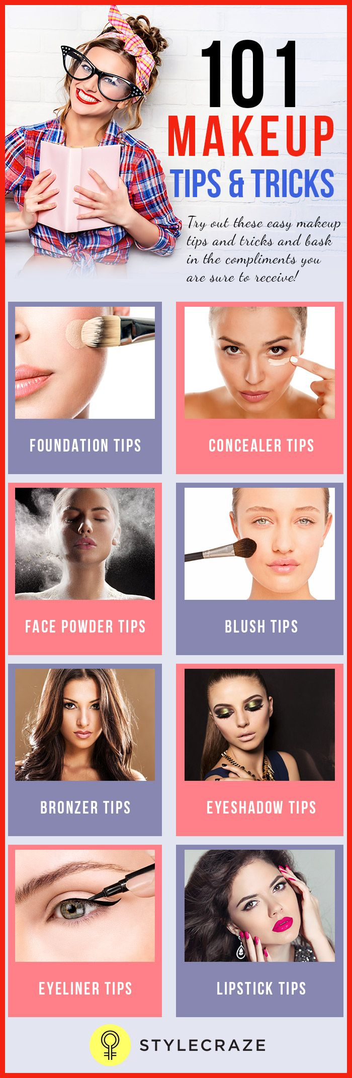 25 trending makeup tips and tricks ideas on pinterest how to 50 essential face makeup tips and tricks for beginners in 2017 ccuart Gallery