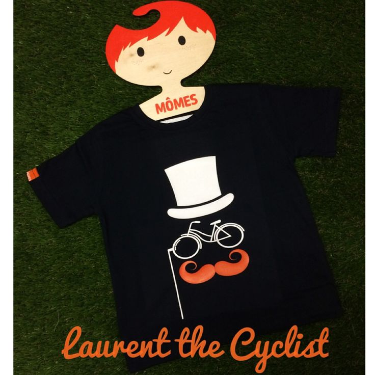 """We just love #MÔMES """"Laurent""""-The cyclist tee ❤️❤️This style is available on our website (link in profile) #french#cyclist#tourdefrance#cool#cute#organic#tees#tshirts#boys#boysstyle#kids#kidsstyle#fashion#australian#designer#sydney#french#hipster#hipsterkids#kidsfashion#unique#handcrafted#funky#momes#moustache#streetfashion#organicbaby#quirky"""