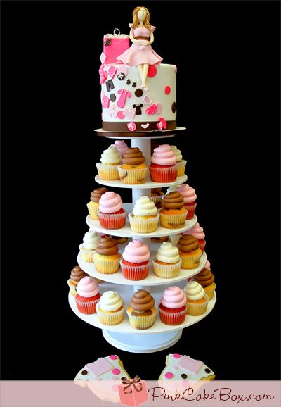 Pregnant Mommy Cupcake Stand