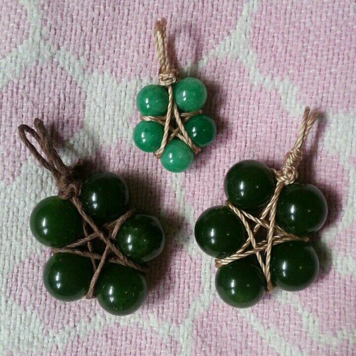 #emerald #star #pendant #macrame